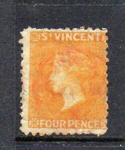ST VINCENT USED 1869 SG12 4d YELLOW