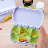 Health Medicine Case Medical Pill Holder Box Portable 6 Slot Case Storage ONE