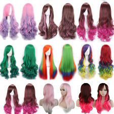 Top Sale Red Black Grey Ombre Full Wig Thick Synthetic Hair For Halloween Wigs