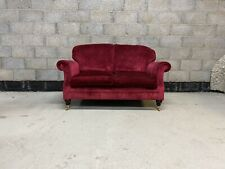 Laura Ashley Hartford 2 Seater Sofa Upholstered in Caitlyn Cranberry