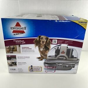 New Bissell Spotbot Pet Carpet Cleaner Silver Upholstery Spot Stain Remover 33N8