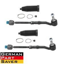 4PCS Front L & R Inner & Outer Tie Rod w/ Steering Rack Boot Kit for BMW E60