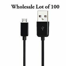 Wholesale Bulk 100 Lot Black Micro USB Charger Cable Cords