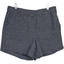 Sandro Dress Shorts 10 Chino Printed Cotton Black White Pockets Casual Womens