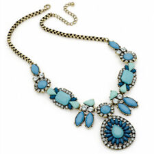 Crystal Statement Oval Costume Necklaces & Pendants