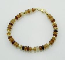Hessonit-Armband - Hessonit-Granat Armband Zimtstein gelb braun für Damen 20 cm