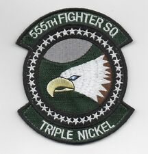 """USAF Patch 555th FIGHTER SQUADRON, """"TRIPLE NICKEL"""""""