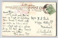 Great Britain 1910 Lark Hill Camp Army PO Card / Small Top Tear - Z13360