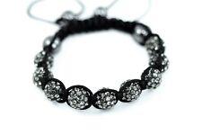 Shamballa Bracelet Multi-Color Crystal Hematite Disco Ball Adjustable Macrame