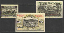 German NOTGELD GRAFENRODA #L448 Complete Set 3 UNC Catalog Value = $40+