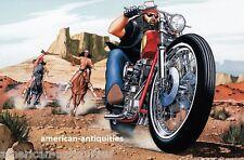 Dave David Mann Biker Art Motorcycle Poster Print Easyriders Renegades Indians