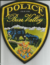 """Bear Valley - 2 Bears, CA  (4"""" x 5"""" size)  shoulder police patch (fire)"""
