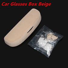 Car Interior Sunglasses Storage Box Sun Glasses Eyeglass Cases Universal Beige