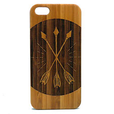 BAMBOO Case made for iPhone 5/5S & SE phones with Three Arrows Artwork Design