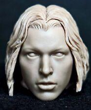 1/6 scale resin unpainted action figure head sculpt resident evil alice female