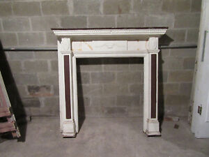 ~ ORNATE ANTIQUE FIREPLACE MANTEL ~ 60 x 58 ~ ARCHITECTURAL SALVAGE