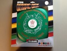 1988 XV OFFICIAL OLYMPIC WINTER GAMES COLLECTIBLE  Green FRISBEE DISK DISC 175