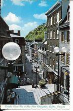 quebec canada postcard escalier casse-cou et rue petit champlain