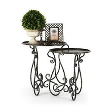 French Provincial Side Occasional Bedside Table Vintage Black Furniture 56cm