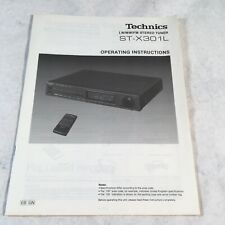 Technics ST-X301L Tuner Original Manual