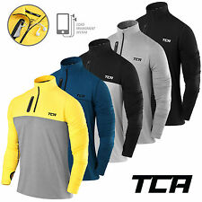 Men's TCA Fusion Soft QuickDry Long Sleeve Half-Zip Running Top Jacket Jersey