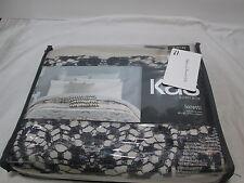 "New KAS Australia LORETTI Twin Duver Cover  68""x90"" ~ Grey/Neutral NEW"
