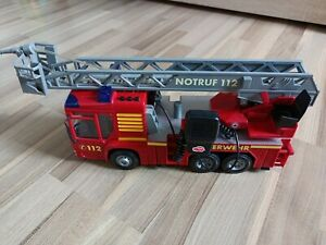 Großes Dickie Toys Fire Hero Feuerwehrauto manueller Wasserspritze Licht Sirene