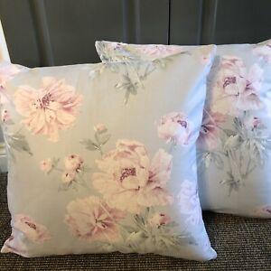 "2 X 21"" large Laura Ashley""Beatrice Cyclamen "" cushions, hand made"