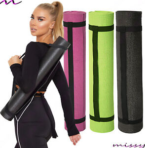 Yoga Mat EXTRA 3mm 173cm x 61cm Non Slip Exercise/Gym/Camping/Picnic CARRY STRAP