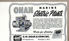1950 Print Ad Onan Marine Electric Plants Minneapolis,MN
