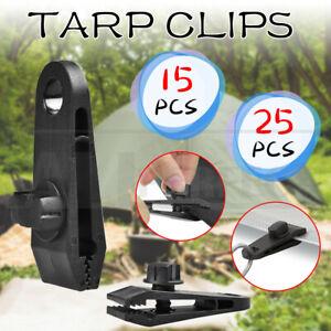 15/25PCS Tarp Clips Hangers Thumb Screw Tent Camping Clamps Lock Grip Heavy Duty