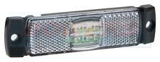 12V 24V SLIM-LINE WHITE LED FRONT MARKER POSITION LAMP LIGHT TRUCK LORRY TRAILER