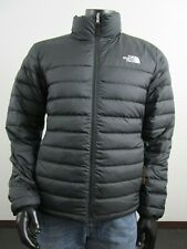 Mens TNF The North Face Flare 550-Down Insulated FZ Puffer Jacket - Black Matte
