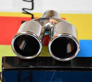 BMW SERIE 3 E90 E91 05-11 TERMINALI DI SCARICO CROMATI INOX DOPPIO USCITA INOX -