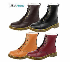 Mens Army Boots Lace UP Chelsea Fashion Shoes Faux Leather Retro Casual