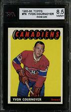 1965-66 TOPPS HOCKEY~#76~YVON COURNOYER~HOF RC~MONTREAL CANADIENS~KSA 8.5 NM-MT+