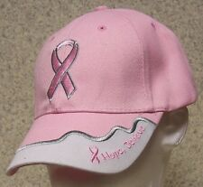 Embroidered Baseball Cap Pink Ribbon Race for the Cure NEW 1 hat size fits all