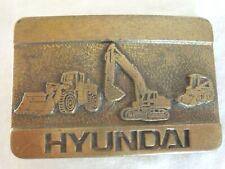 Hyundai Heavy Equipment Brass Belt Buckle (#3272)