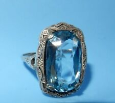 Silver Plated Blue Costume Rings
