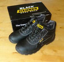 BLACK HAMMER CHUKKA BOOTS 1007 UK 12 46 EU BLACK STEEL TOE CAP SAFETY WATERPROOF