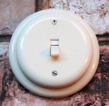 2 Way Restored Vintage Art Deco Cream Bakelite Light Switch FALKS