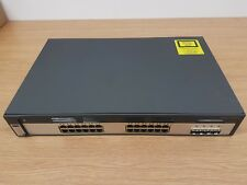 Cisco Catalyst 3750 24 puertos Gigabit SFP 4x + conmutador 2U (C3750G-24TS-S)