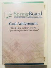 SpringBoard ~ Real Estate Investors ~ Goal Achievement (2-Disc CD Set/Workbook)