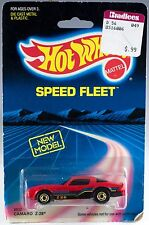 Hot Wheels Speed Fleet Camaro Z-28 Red With Gold Hot Ones MOC 1989