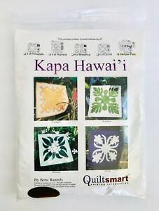 Quiltsmart Quilt Patterns Kapa Hawaiian Sampler 4 Pk Appliqué Blocks Interfacing