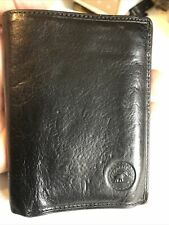 Elephant D'or Gentlemans Thick Black Leather Bifold Wallet.