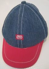 New Ecko Unlimited Headwear Toddler 18-24M Baseball Cap Hat Denim Blue Red Jean