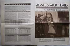 Berlin 1935 Werbeprospekt Agnes Straub Theater Kurfürstendamm Reklame Prospekt
