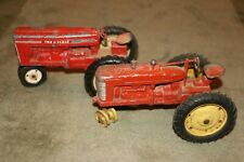 Tru Scale 1/16 Tractor Models (2) 410 and Farmall M metal from 1950's