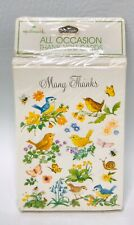 Hallmark Thank You Notes Vintage Note Cards Birds Flowers Butterfly Bees Snails